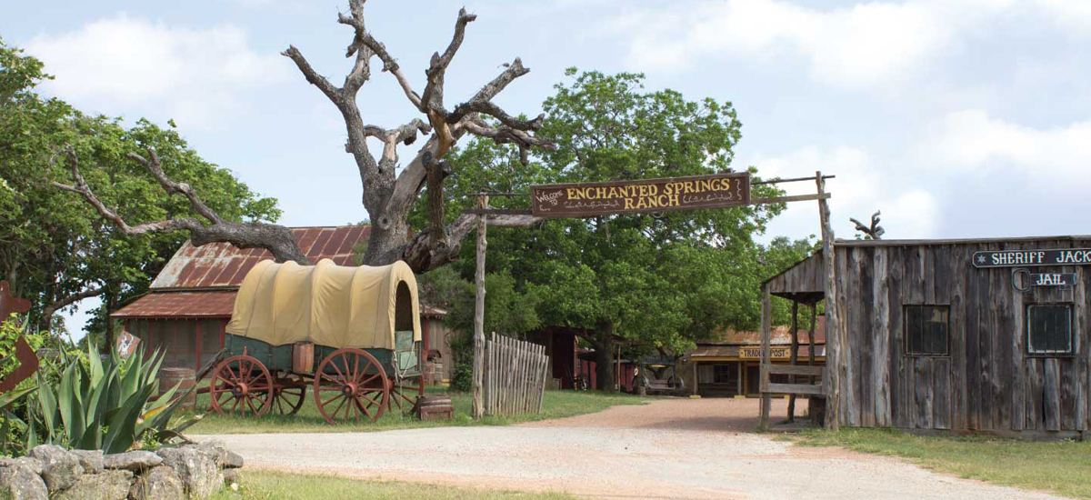 Front Entrance of Enchanted Springs Ranch True Texas Event Venue
