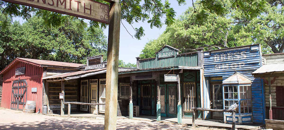 Old West Town at Enchanted Springs Ranch