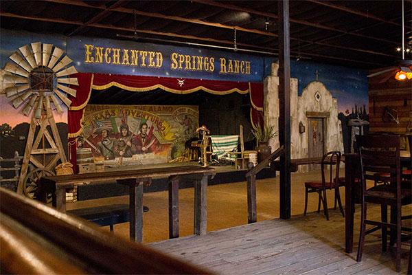 Inside of the Six Gun Saloon