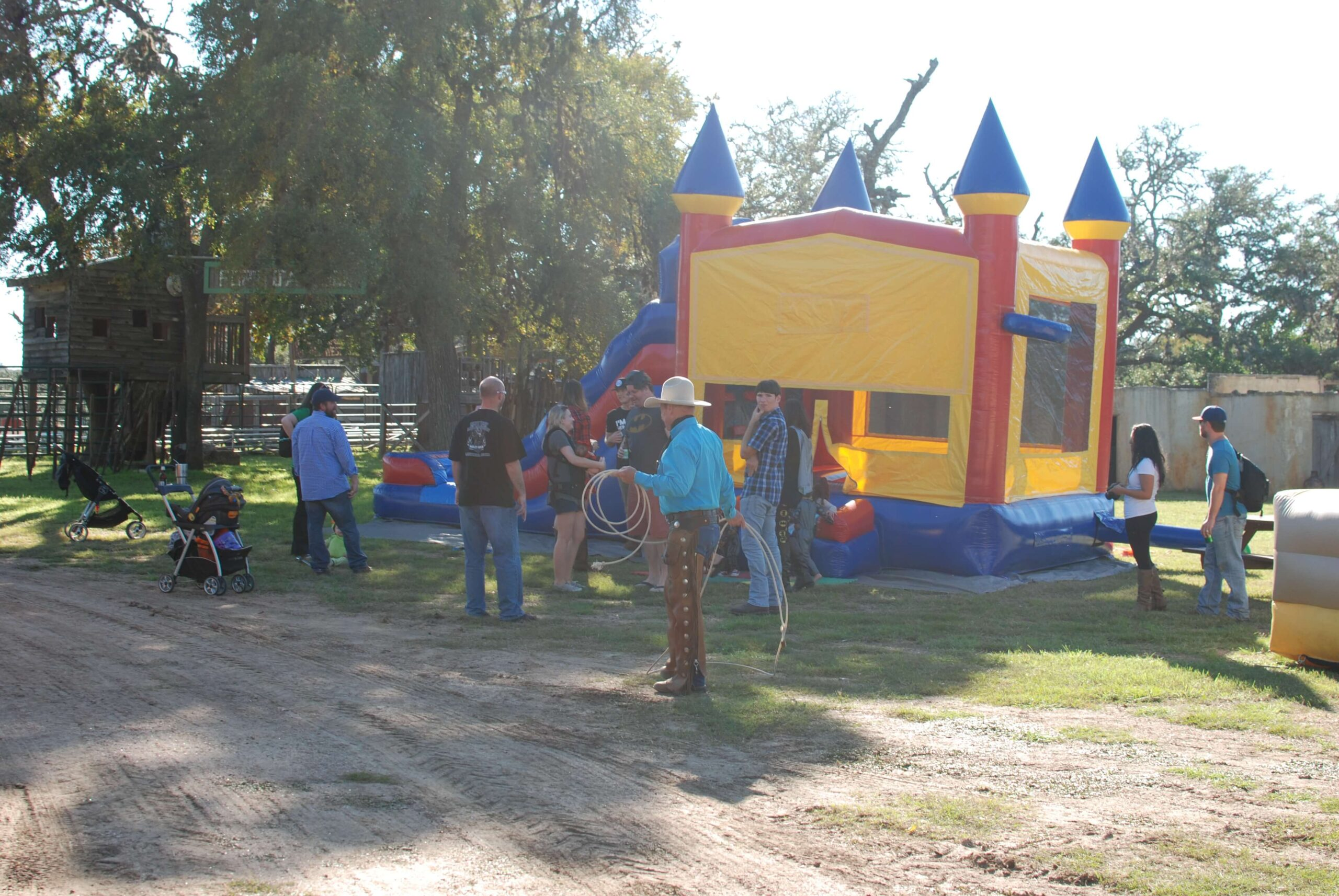 Company Picnics at Enchanted Springs Ranch- Bounce Houses and Trick Roping Shows