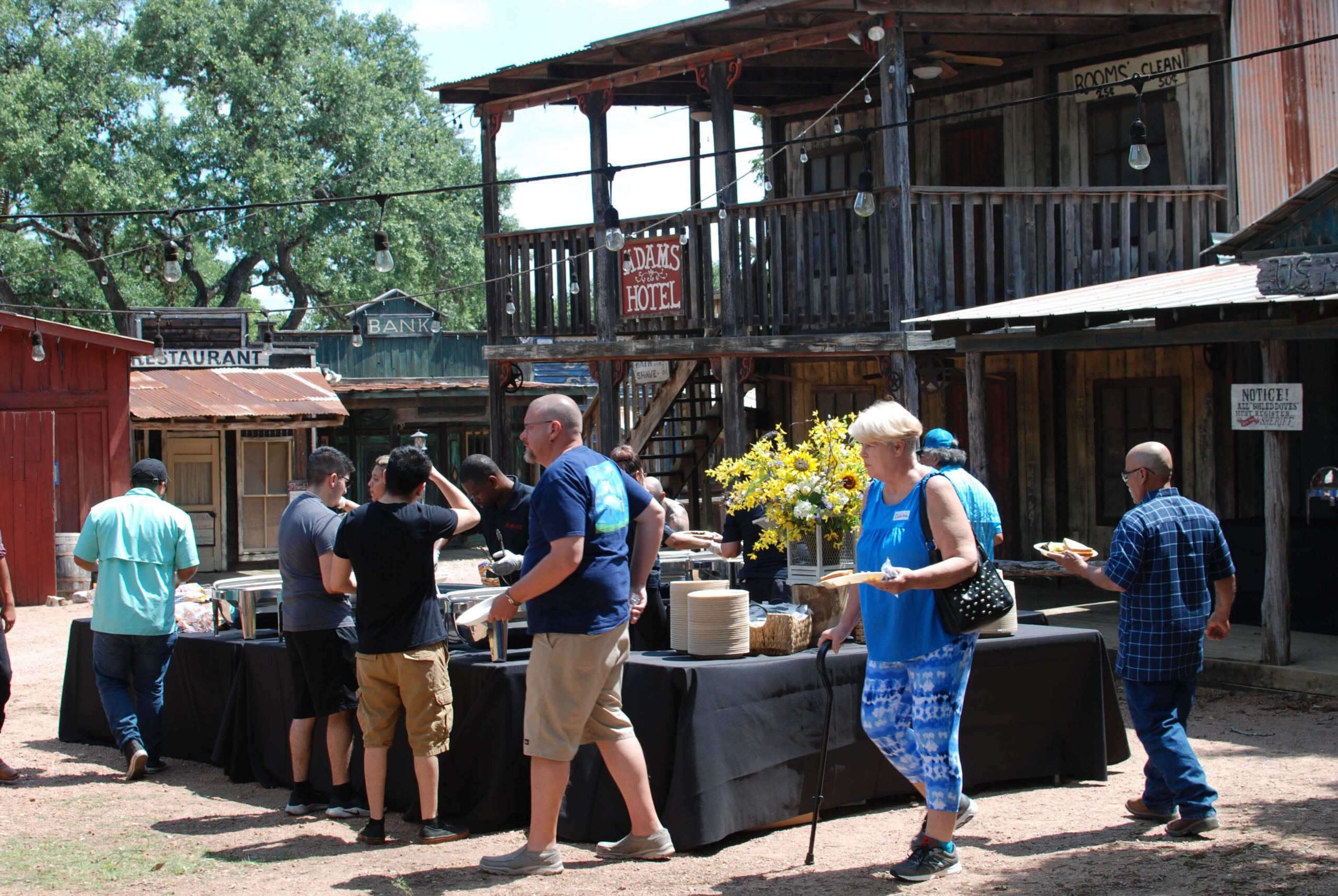 Company Picnics at Enchanted Springs Ranch- BBQ Buffet