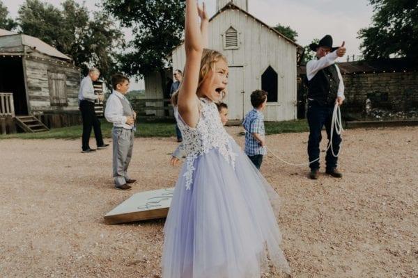 Adams Grandchild enjoying a Texas roping show!