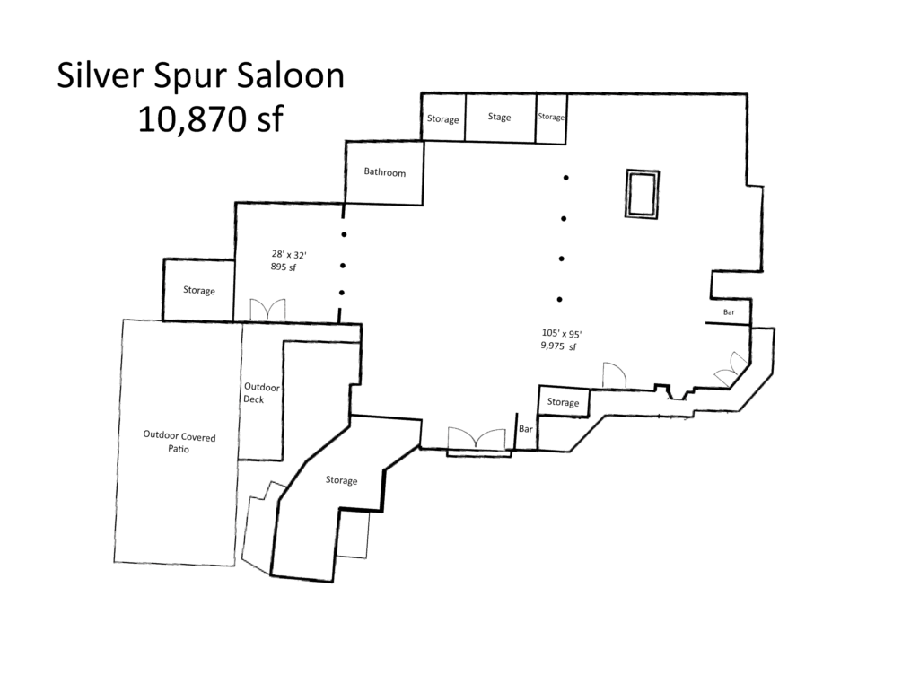 Diagram of the Silver Spur Saloon
