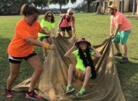 Team building at Enchanted Springs Ranch is a great way to work together in an outdoor setting.