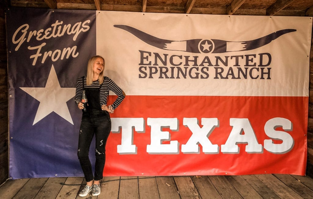 Lifesize Postcard Photo Op at Enchanted Springs Ranch