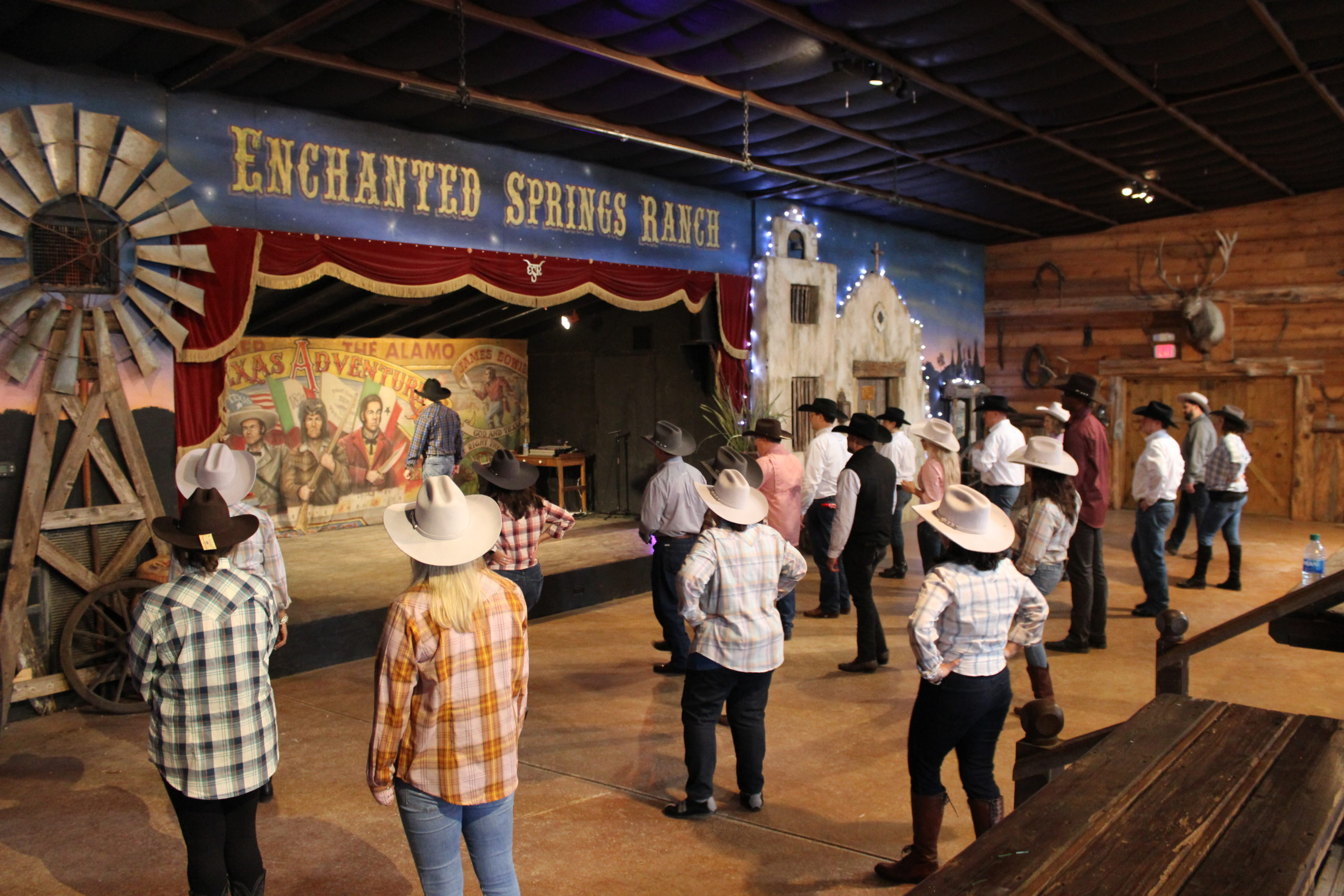 Corporate Group Line Dancing at Enchanted Springs Ranch
